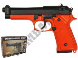HA118Z BB Gun Beretta M9 Replica Spring Airsoft Pistol 2 Tone Orange Black Slide